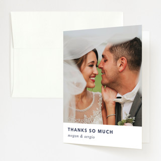 tissue union Folded Thank You Card