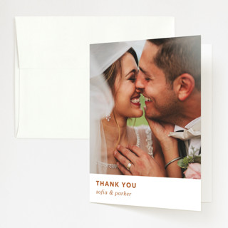 tissue texture Folded Thank You Card