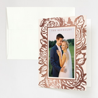 House of York Foil-Pressed Folded Thank You Card