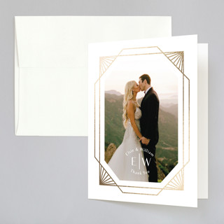 Radiant Frame Foil-Pressed Folded Thank You Card