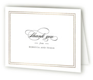 Eloquence Foil-Pressed Folded Thank You Card