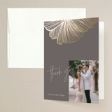Foil-Pressed Folded Thank You Card