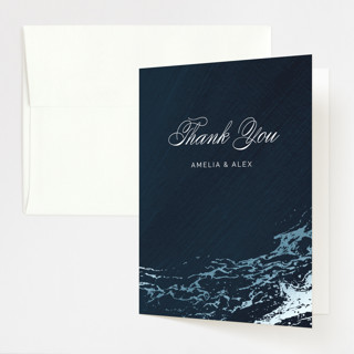 Classic Splash Foil-Pressed Folded Thank You Card