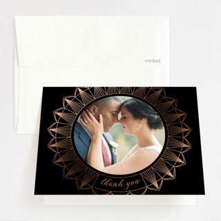 mandala Foil-Pressed Folded Thank You Card