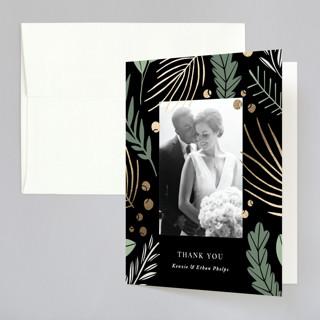 Novel Charm Foil-Pressed Folded Thank You Card