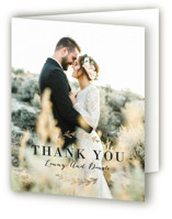 Elegant Announcement Foil-Pressed Folded Thank You Card