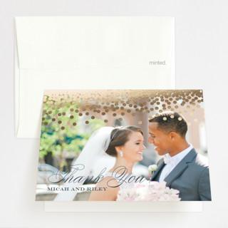 Confetti Foil-Pressed Folded Thank You Card