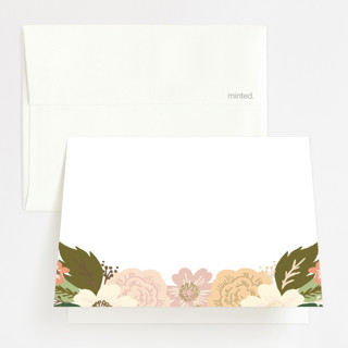 Classic Floral Foil-Pressed Folded Thank You Card