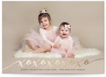 XOXOXOXO Foil-Pressed Valentine Cards