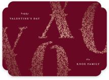 Leafy XOXO Foil-Pressed Valentine Cards
