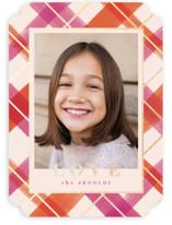 Joyful Plaid Foil-Pressed Valentine Cards