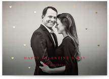 Floating Hearts Foil-Pressed Valentine Cards