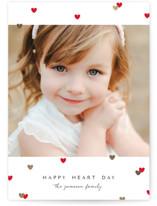 Heartshaped Confetti Foil-Pressed Valentine Cards