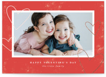 Hearts Around Foil-Pressed Valentine Cards