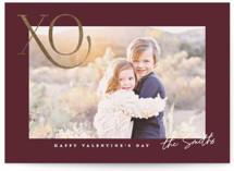 X n O Foil-Pressed Valentine Cards