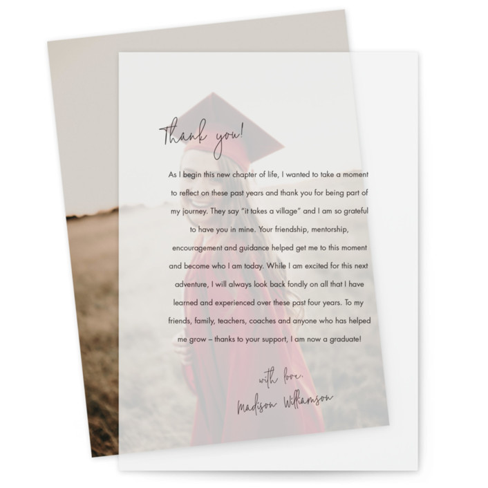 Little Note Vellum Overlay Graduation Announcements