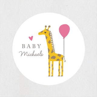 Mama and Baby Giraffe Baby Shower Stickers