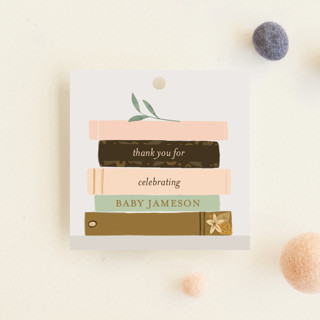 Book Lovers Baby Shower Favor Tags