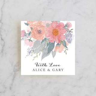 fresh watercolor floral Wedding Favor Tags