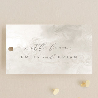 Rose Box Wedding Favor Tags