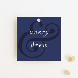 Classic Ampersand Wedding Favor Tags