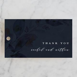 Midnight Vines Wedding Favor Tags
