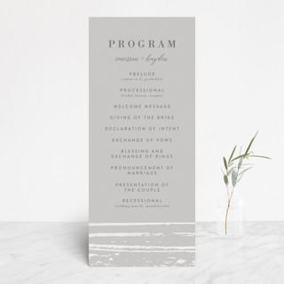Gilded Woodgrain Gloss-Press™ Wedding Programs