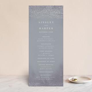 Dusted Gloss-Press™ Wedding Programs