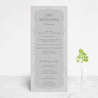 Confetti Frame Gloss-Press™ Wedding Programs