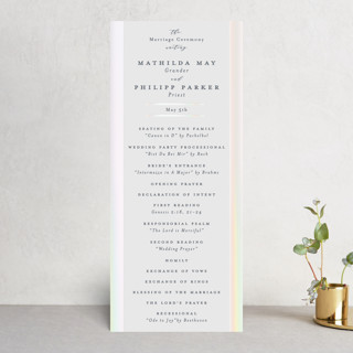 Dreaming of a white wedding Gloss-Press™ Wedding Programs