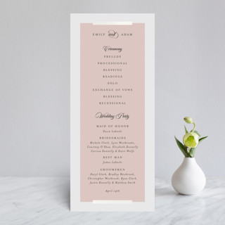 Classic Bars Gloss-Press™ Wedding Programs