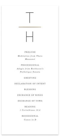 Pencil Thin Foil-Pressed Wedding Programs