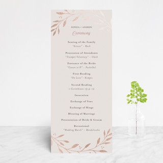 Vineyard Foil-Pressed Wedding Programs