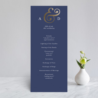 Classic Ampersand Foil-Pressed Wedding Programs