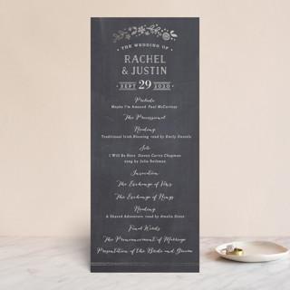 Alabaster Florals Foil-Pressed Wedding Programs