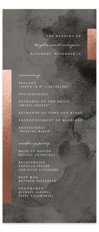 Gallant Foil-Pressed Wedding Programs