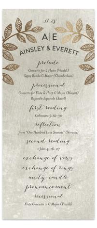Folk Filigree Foil-Pressed Wedding Programs