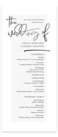 Mingle Foil-Pressed Wedding Programs