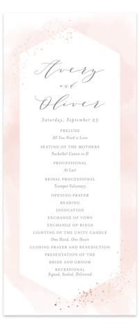 Sparkling Champagne Foil-Pressed Wedding Programs