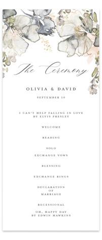 Vitrage Foil-Pressed Wedding Programs