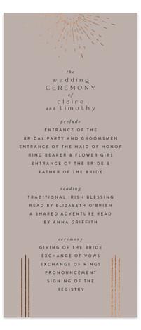 Minimalist Deco Foil-Pressed Wedding Programs