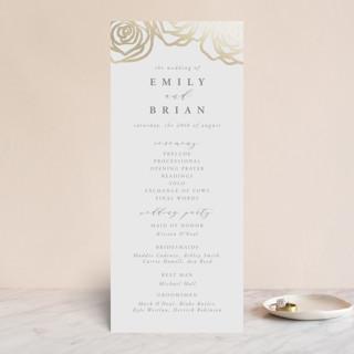 Rose Box Foil-Pressed Wedding Programs