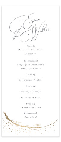 whimsical twigs Foil-Pressed Wedding Programs