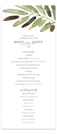 Al Fresco Foil-Pressed Wedding Programs