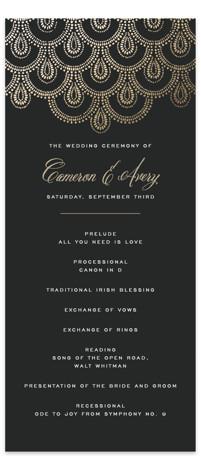 Captivating Foil-Pressed Wedding Programs
