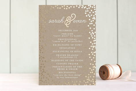 Starlight Foil-Pressed Wedding Programs