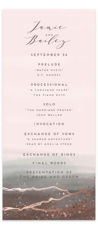 Natural Elegance Foil-Pressed Wedding Programs