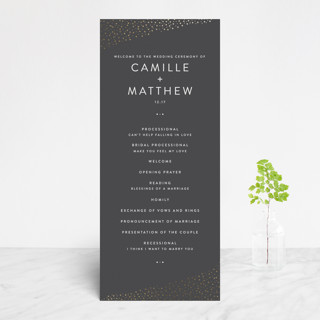 Modern Glam Foil-Pressed Wedding Programs