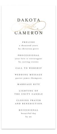 Classic Union Foil-Pressed Wedding Programs