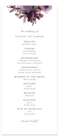 Shimmer Foil-Pressed Wedding Programs